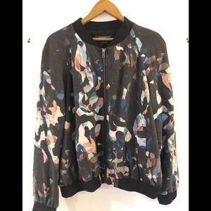 French connection multicoloured bomber jacket
